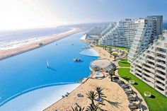 worlds largest swimming pool, in Chile