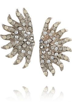 Lulu Frost|Sunburst Stud Swarovski crystal earrings|NET-A-PORTER.COM