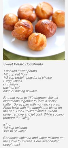 DLB's Healthy Sweet Potato Donuts Recipe Have to make changed to the recipe to make healthy.