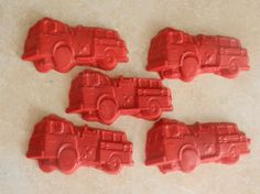 Recycled Crayon Party Favor - Fire Truck 8 count