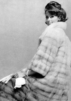 Tamara Nyman in Canadian Mink by Ben Kahn, photo by Arsac 1963