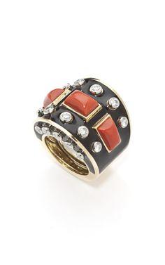 David Webb Coral Bastille Ring