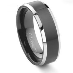 Tungsten Men's Wedding Band: MANWALL's wedding band (size 13.5...whoa!)