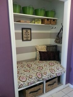 Closet makeover - different colors, but good use of space