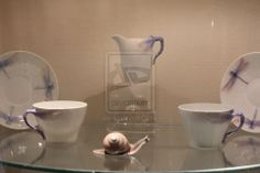 Let's start with a tea service on display in Mauve boudoir.