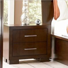 Coaster Two Drawer Nightstand in Light Cappuccino Finish for only $153.53 You save: $104.47 (40%)