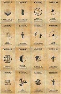 Fringe Science Fiction Inspired Iconography Poster Series - 16 11x17 Vintage Warning Posters. $256.00, via Etsy.
