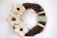 AdornAWreath modern style rustic burlap by AdornAWreath on Etsy, $29.95