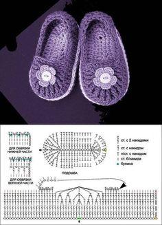 DIY Baby Crochet Shoes