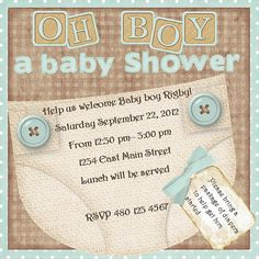 Its a boy baby shower invitation by lovebugbebe on Etsy, $15.00