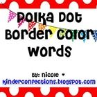 Polka Dot Color Words {Freebie}