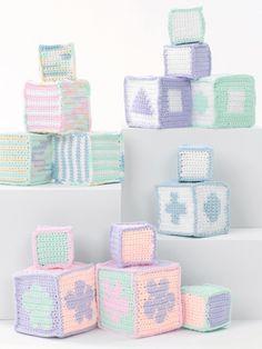 Baby's Blocks   Yarn   Free Knitting Patterns   Crochet Patterns   Yarnspirations