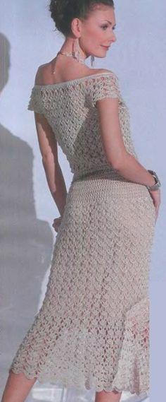 Scheme knitting crochet dress