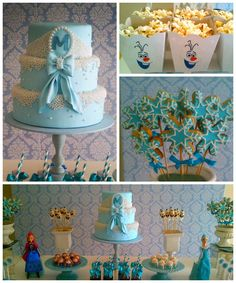 Frozen themed birthday party with so many great ideas via Kara's Party Ideas | Cake, decor, cupcakes, games, and more! KarasPartyIdeas.com #...