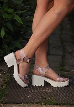 Pink Iridescent Chunky Shoes £32.00