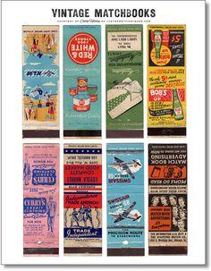 Vintage matchbook covers free digital