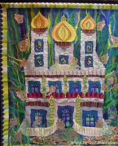 The Magical Mermaid's Castle by Claudia Pfeil (Germany).  Photo by Quilt Inspiration