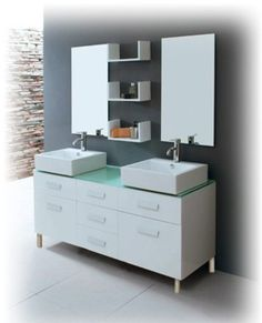 Salle de bain on pinterest bathroom lighting merlin and for Vasque a poser lapeyre