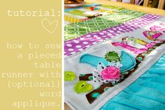 Blessed Nest - pieced runner w/optional word applique