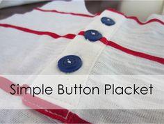 Button placket tutorial
