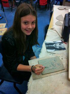 (the way cool) Donald Art Room: 5th grade ceramics: Self portraits vs. Selfies