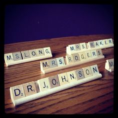 NAME PLATE for a desk, Scrabble Office Decor, made to Order
