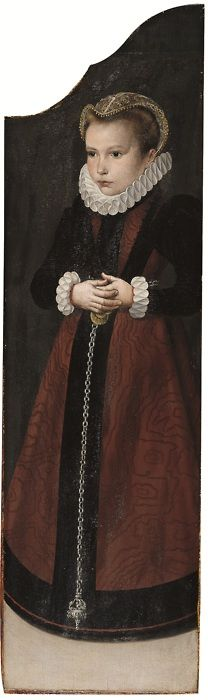 Anonymous Dutch artist - Portrait of a girl, 16th century.