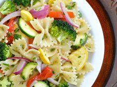 summer vegetable pasta salad - Budget Bytes