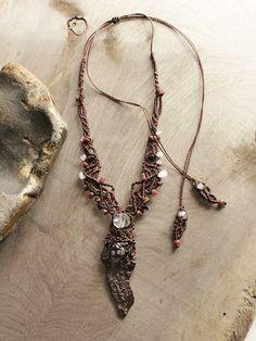 'Ancient Wisdom' necklace, with Prophecy Stone from Egypt's White Desert (www.miailluzia.com)