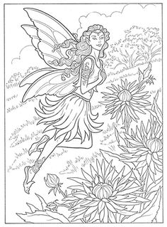Fairies To Paint Or Color Coloring Book, Dover Publications