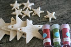 Salt dough ornaments.