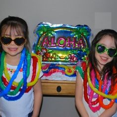Hawaiian or Luau Themed Party for Kids  http://www.perfect-parties.com/luau-party.html  #party, #kids party, #luau, #hawaiian, #birthday