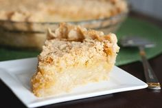 Vanilla Crumb Pie - This pie is filled with a warm, sweet, vanilla-like pudding, then topped with a delicious, buttery crumble topping