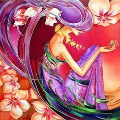 'spring' - batik painting - Elena Vedernikova