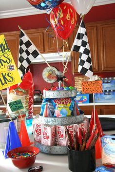 party love ♥: hot wheels birthday party. I will most definitely be using some of these ideas in October!