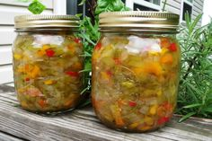 Peppers and onion relish -  yum!