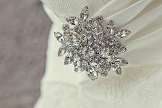 Wedding gown brooch