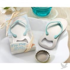 Top 10 Beach Wedding Favor Ideas.... They have these flip flop can openers @ ROSS for $7.99, their REALLY.... CUTE!!!