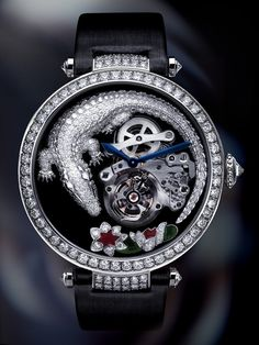 Cartier Tourbillon & Crocodile Watch ~  a high-end marquee watch for women #PurelyInspiration http://www.squidoo.com/top-luxury-watches-lists