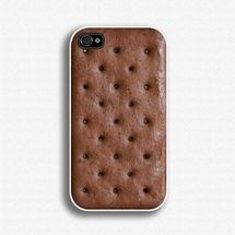 Ice Cream Sandwich iPhone Case. Perfect for the hot summer days. Although I might try to eat my phone...hmm..