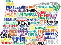 Eugene, Springfield, Lowell, Pleasant Hill, Veneta, Redmond, Bend, Salem, Seaside, Portland, Beaverton, Ashland... I heart Oregon