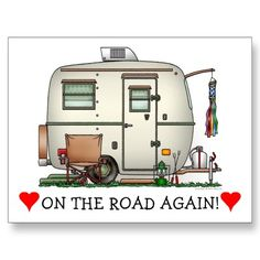 Cute RV Vintage Glass Egg Camper Travel Trailer Post Card SOLD 3-15-12  Shipping to Spartanburg SC  by art1st