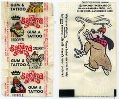 Banana Splits Gum & Tattoo  Fleer 1969