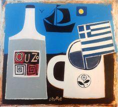 Greek Postcard - Simon Laurie RSW RGI