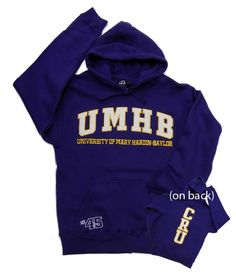 Cru Back Purple Hoodie | UMHB Bookstore