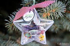 Time Capsule Shrink Plastic Ornaments - Add meaningful elements so your ornament tells a story.