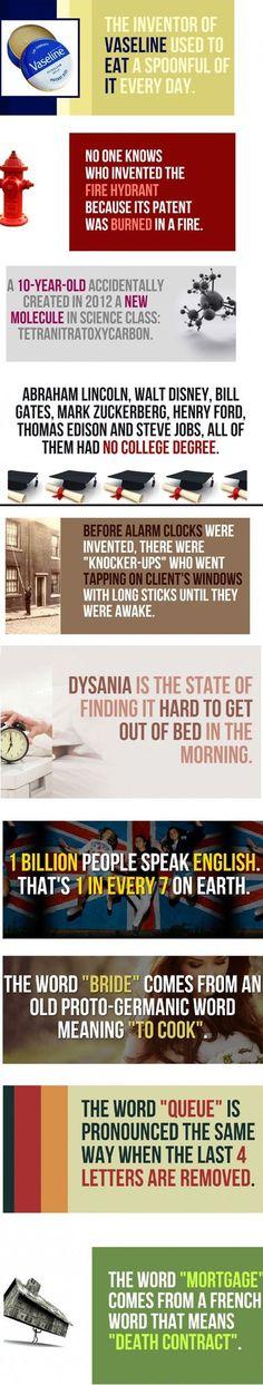 Ten weird random facts hahaha.