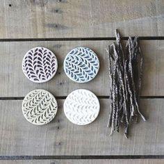 Pastel Vine Coasters - Set of 4//