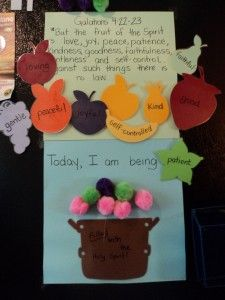 Great activity to help kids learn the Fruit of the Spirit. Hands-on.