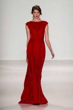 red, tadashi shoji, fashion styles, dress, shoji fall, fashion week, fw 2014, runway, fall 2014